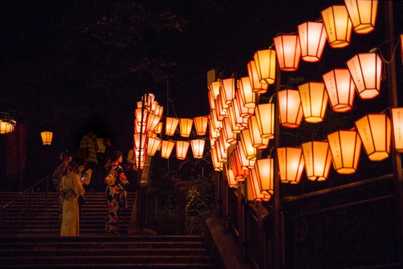 ぼんぼり祭り 点灯式