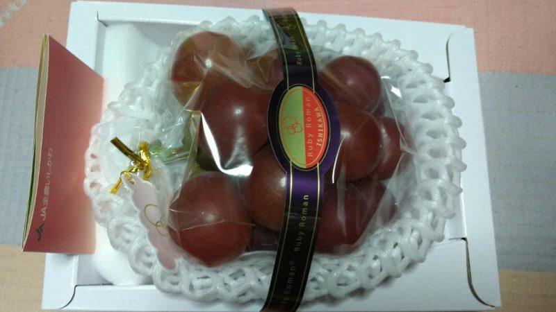 【赤と緑の大粒ブドウ】今が旬のルビーロマン&シャインマスカット