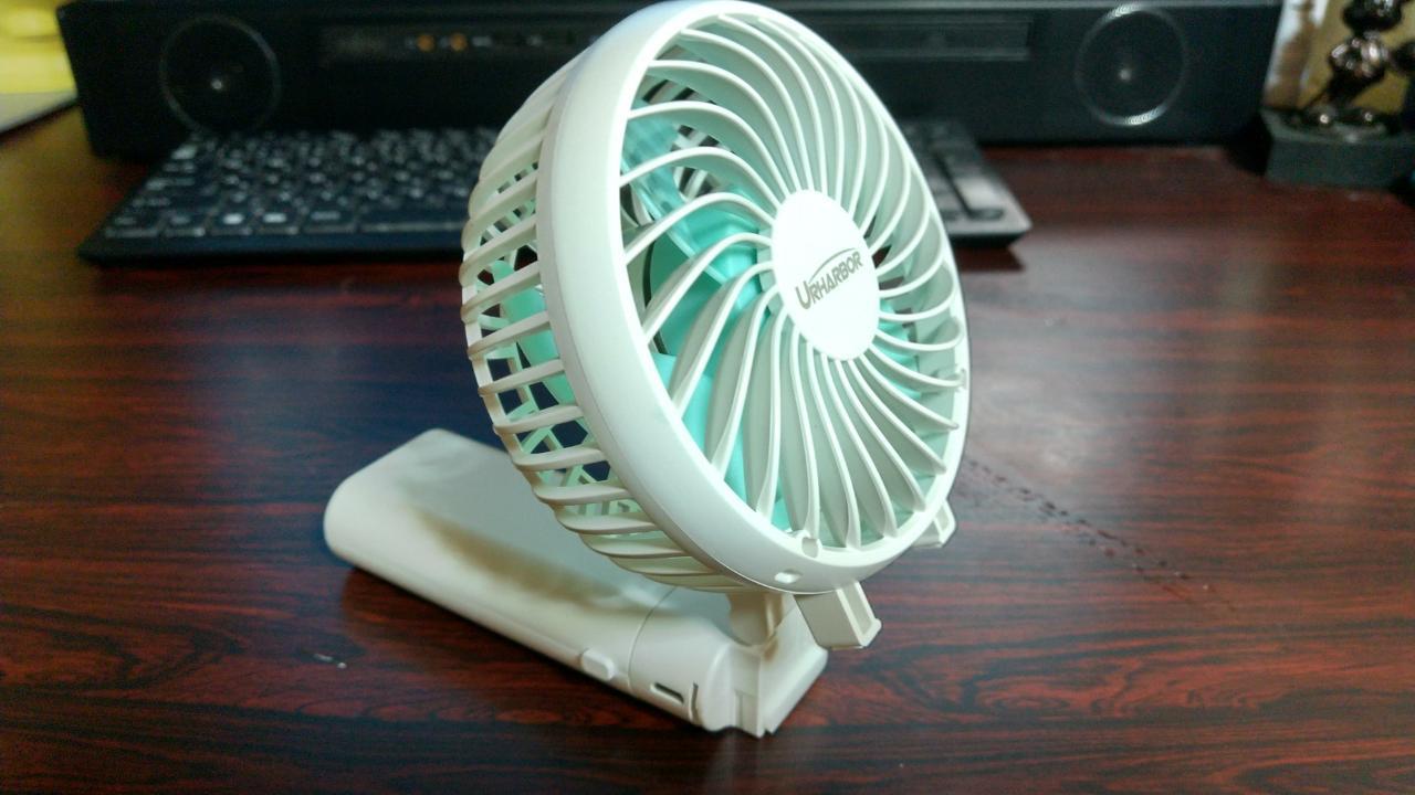 【卓上扇風機】強い風量&フル充電で長時間稼働